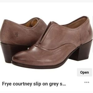 Frye courtney slip on oxford Sz 8.5 leather shoes